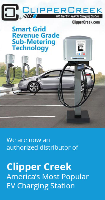 We are now an authorized distributor of Clipper Creek America's Most Popular EV Charging Station